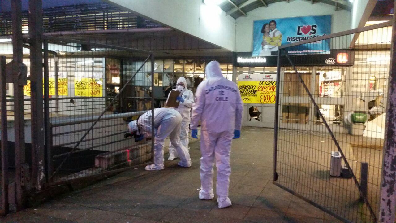 Robo cajero en supermercado Osorno