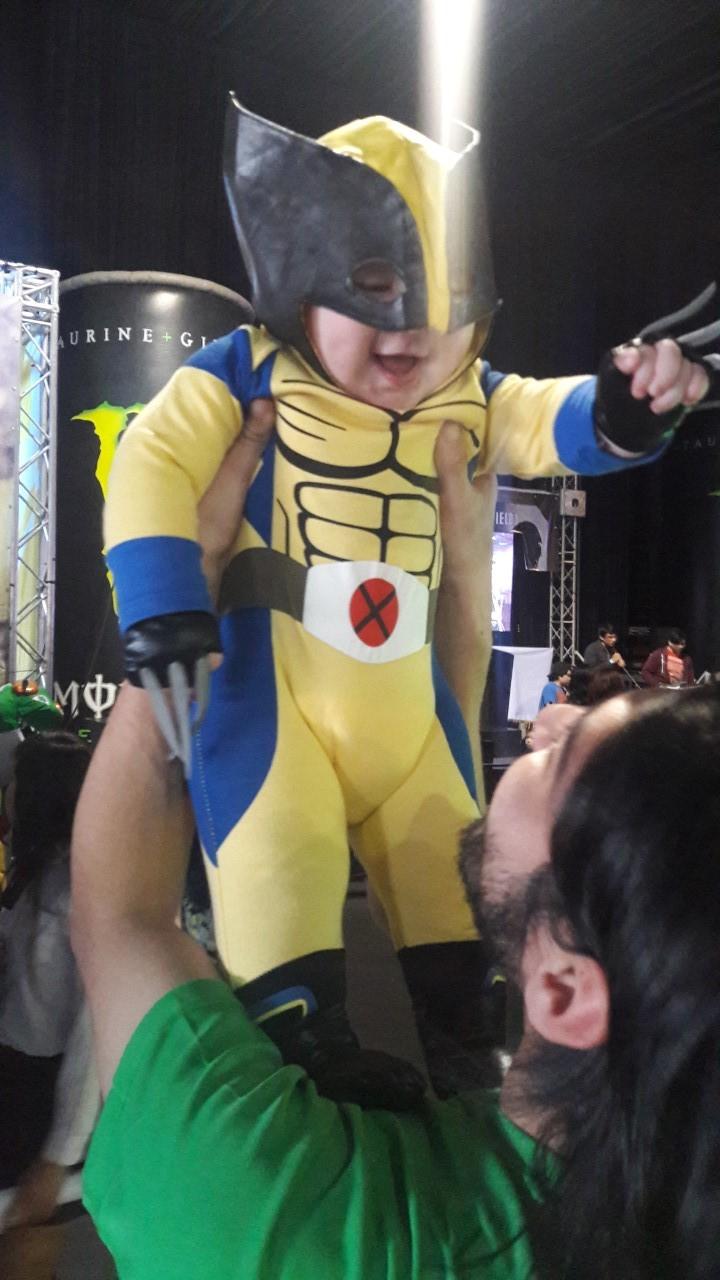 Bebé cosplayer en Expogame 2016