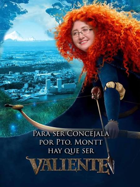 Afiche de candidata como princesa de Pixar