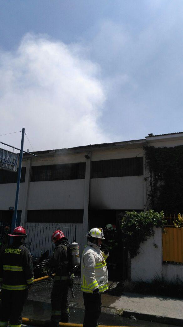Incendio en imprenta de San Joaquín
