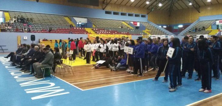 Inauguran olimpiadas del servicio nacional de aduana en osorno for Viveros en osorno