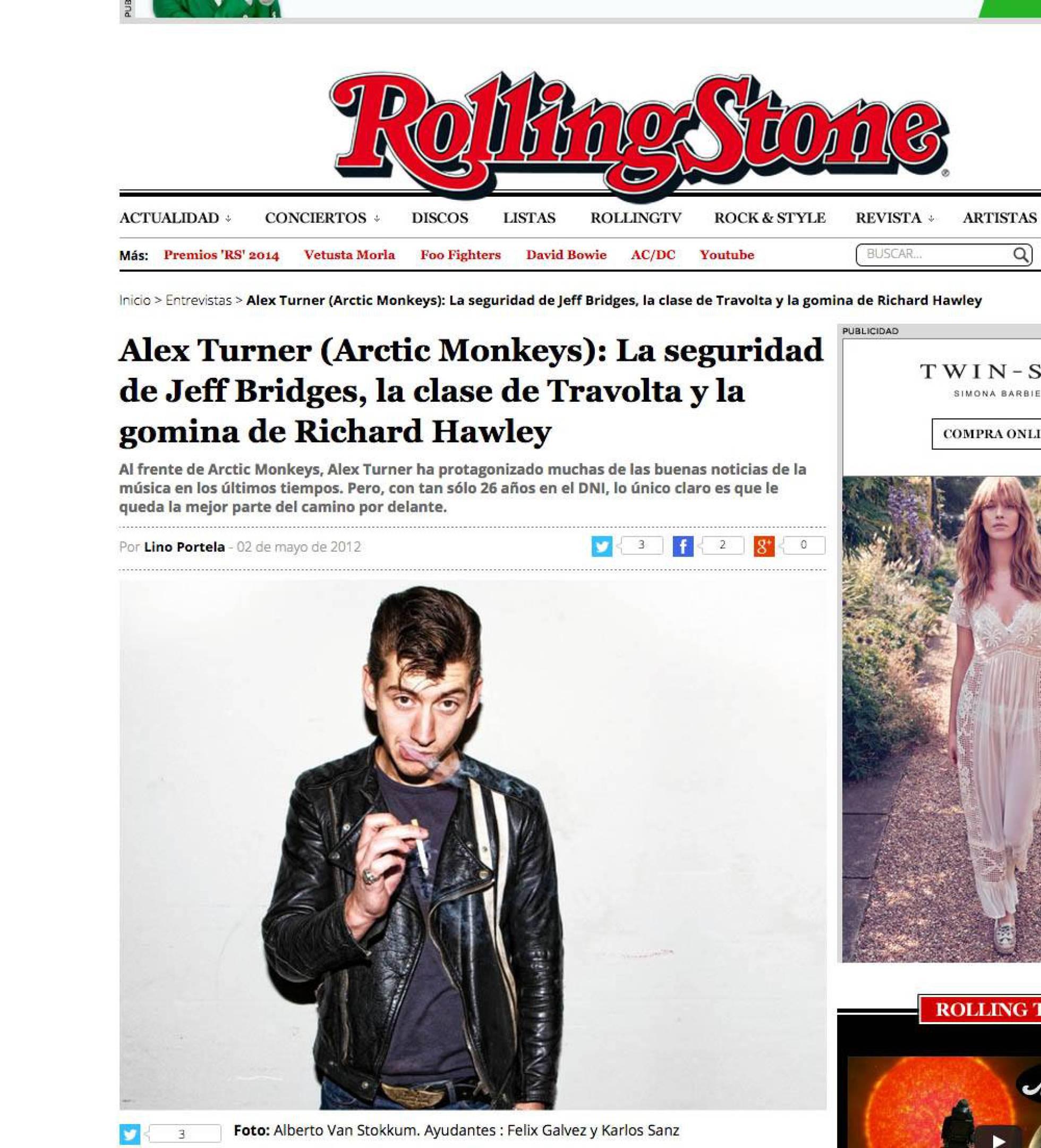 Imagen en el artículo de la revista Rolling Stone