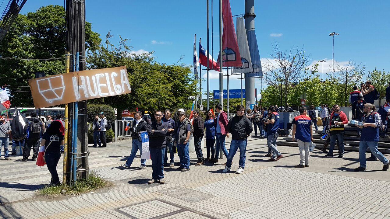 Trabajadores de Homecenter Sodimac de la Araucanía se sumaron a movilización nacional