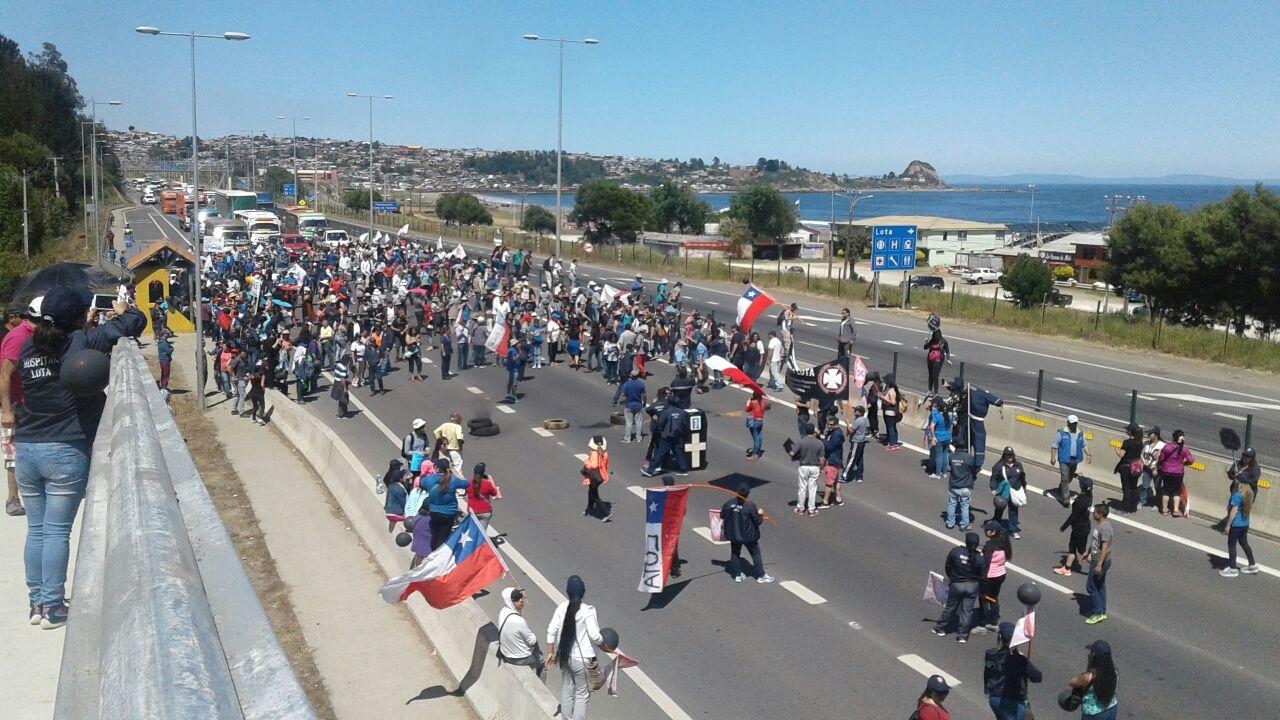 Barricadas en ruta 160