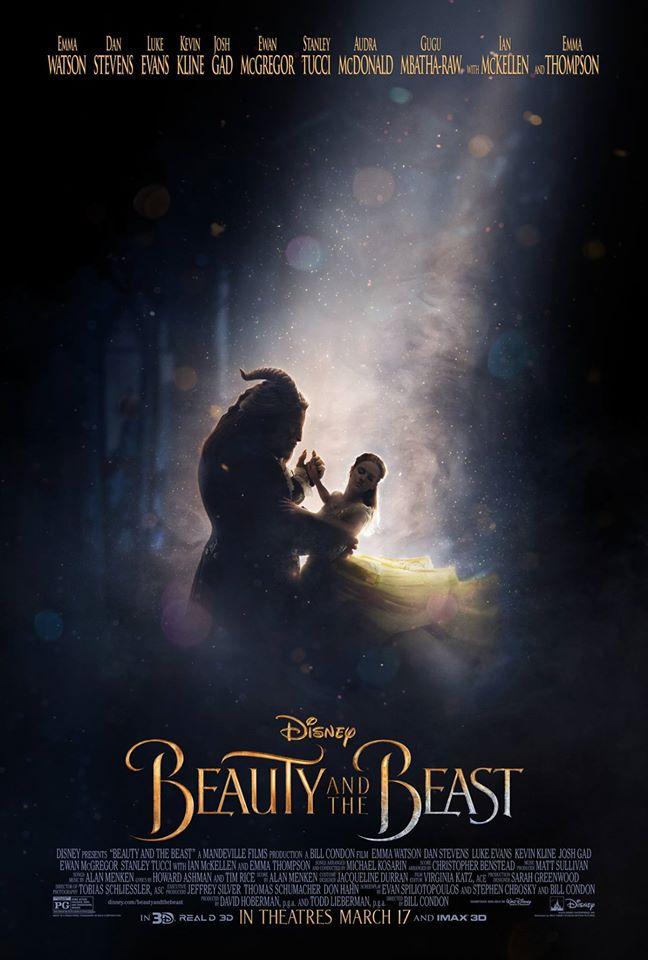 """Emma Watson comparte nuevo póster de """"La bella y la bestia"""""""