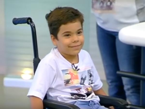 El pequeño David Matos | Rede Globo