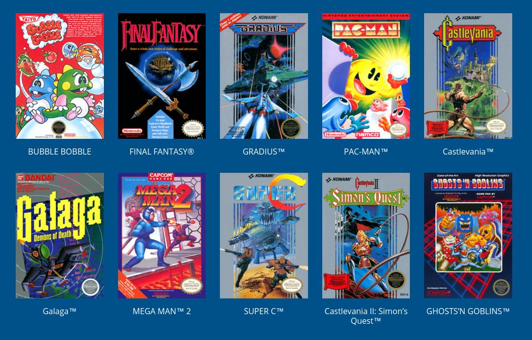 Algunos de los juegos | Nintendo