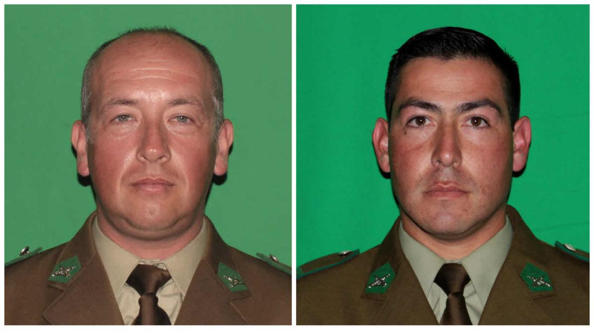 Sargento segundo Hans Knopke (37)| Carabinero Luis Díaz Manríquez (27)