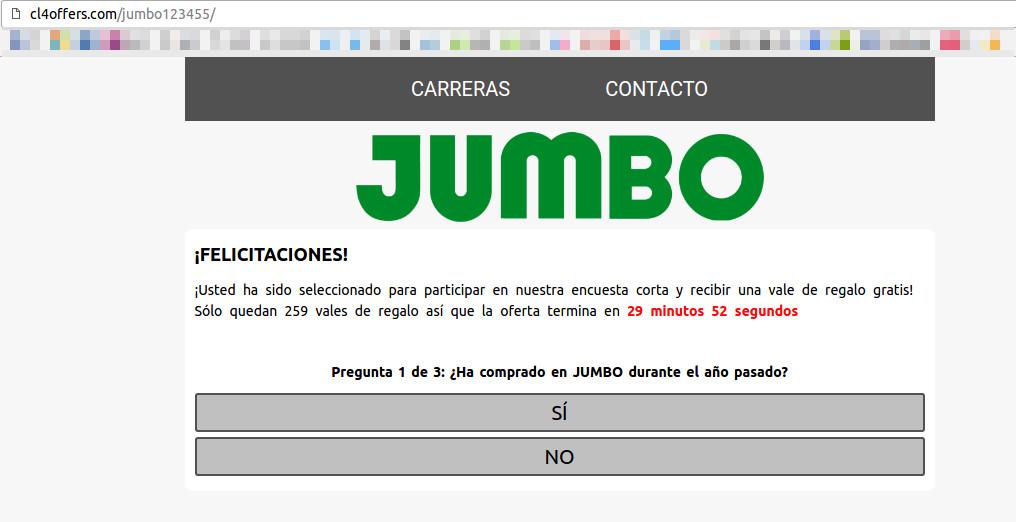 Jumbo alerta por cupón falso que se ha viralizado en redes sociales