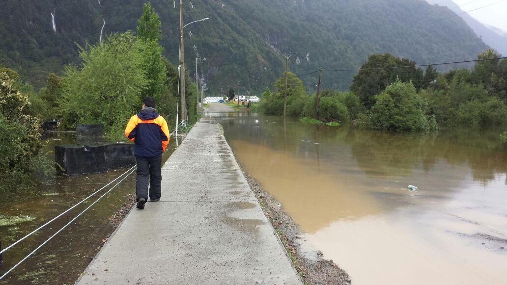 Monitorean Alerta Amarilla por intensas lluvias en región de Aysén