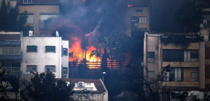 incendio en israel