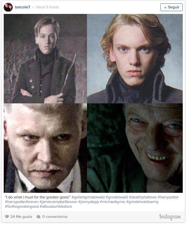 """Así luce Johnny Depp como el villano Grindelwald en """"Animales fantásticos..."""""""