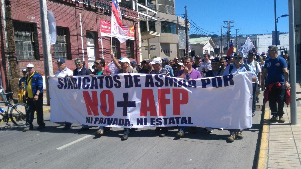 marcha NO + AFP Talcahuano