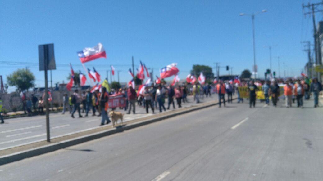 MARCHA EN TALCAHUANO
