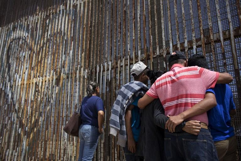 Muro divide California y el norte de México