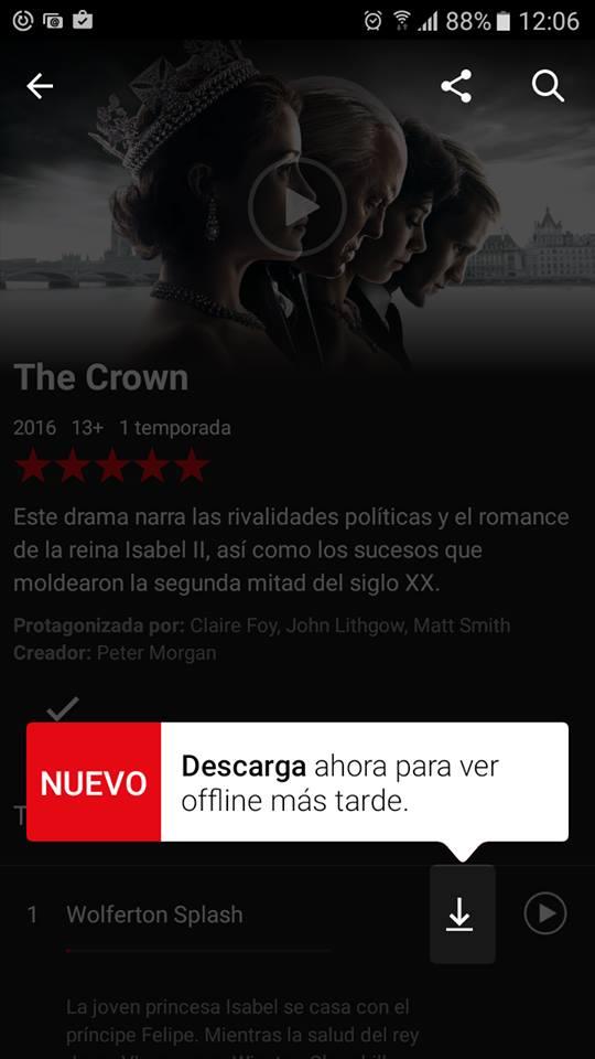 Ahora Netflix permite descargar series y películas para verlas sin conexión