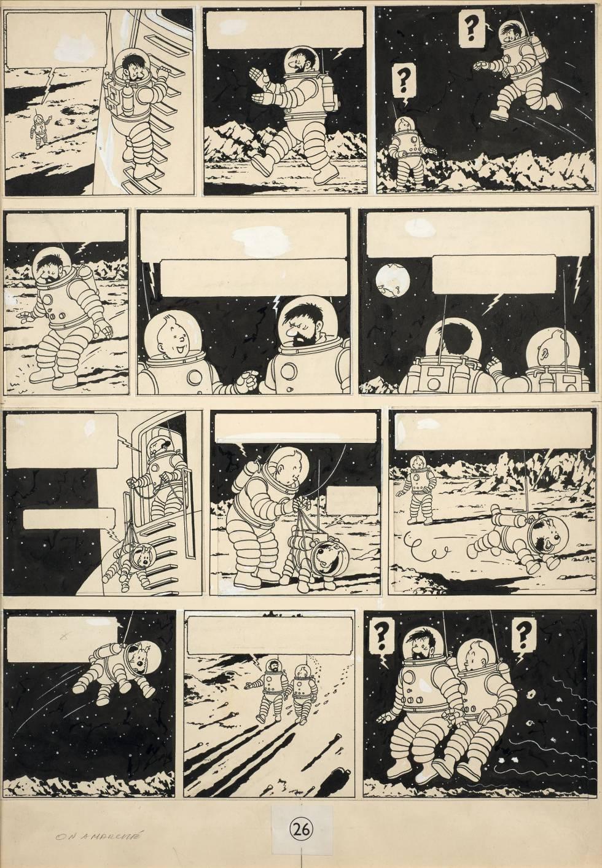 Plancha original de Tintín fue subastada a precio récord en Francia