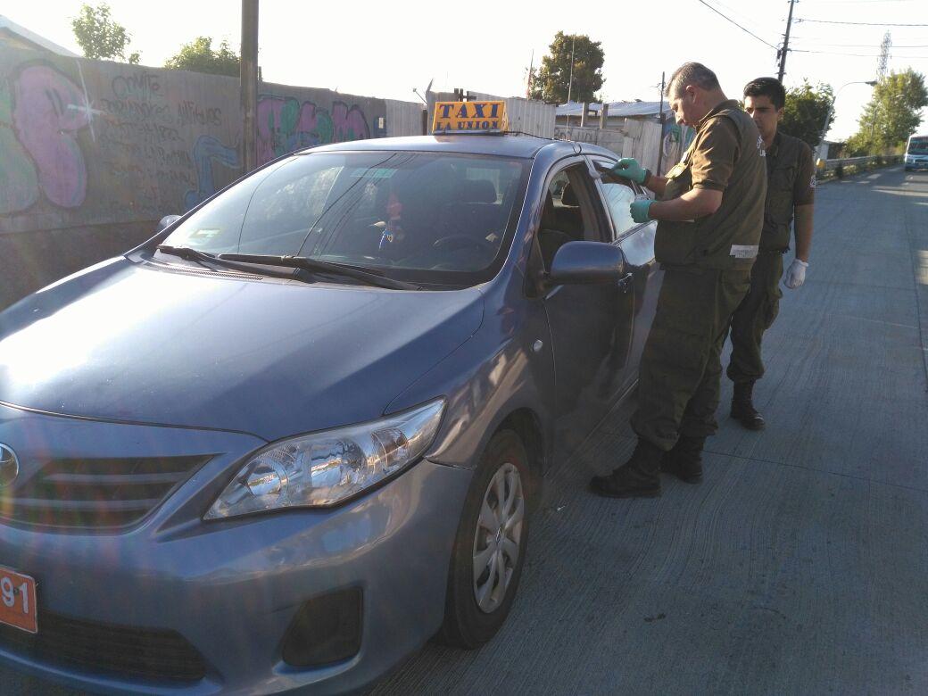 Taxi robado en Concepción
