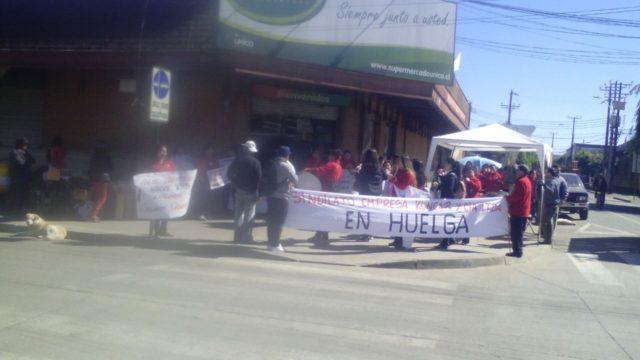 Trabajadores de Sodimac Los Ángeles y Supermercado Único de Mulchén en huelga legal