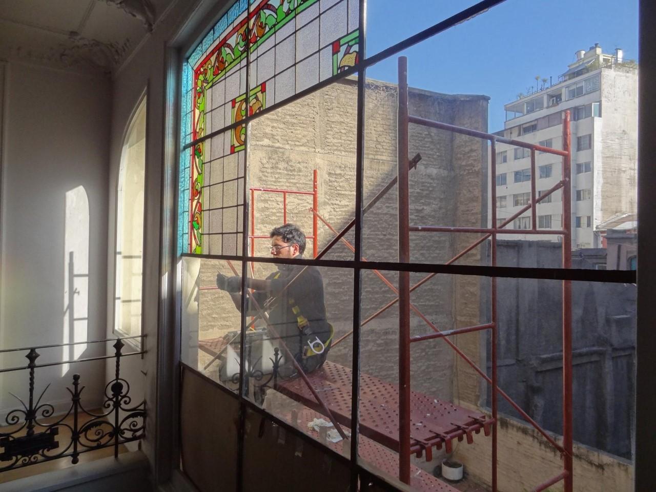 Vitrales del Colegio de Arquitectos de Chile
