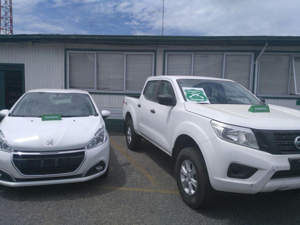 Vehículos robados desde automotora