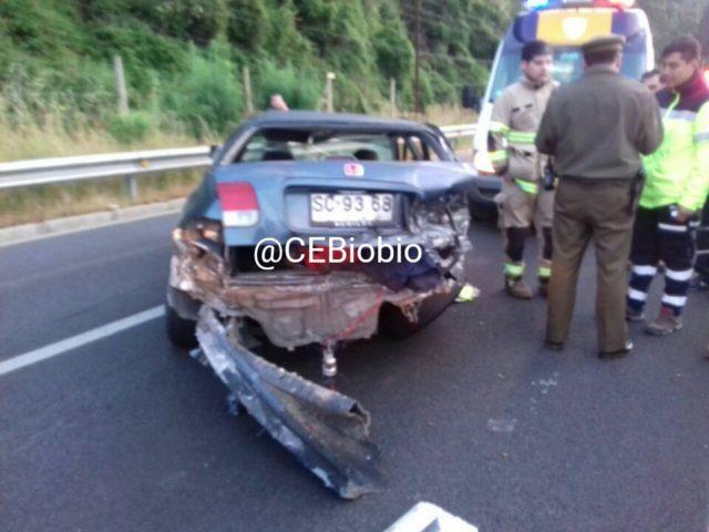 Imagen de accidente en Hualqui