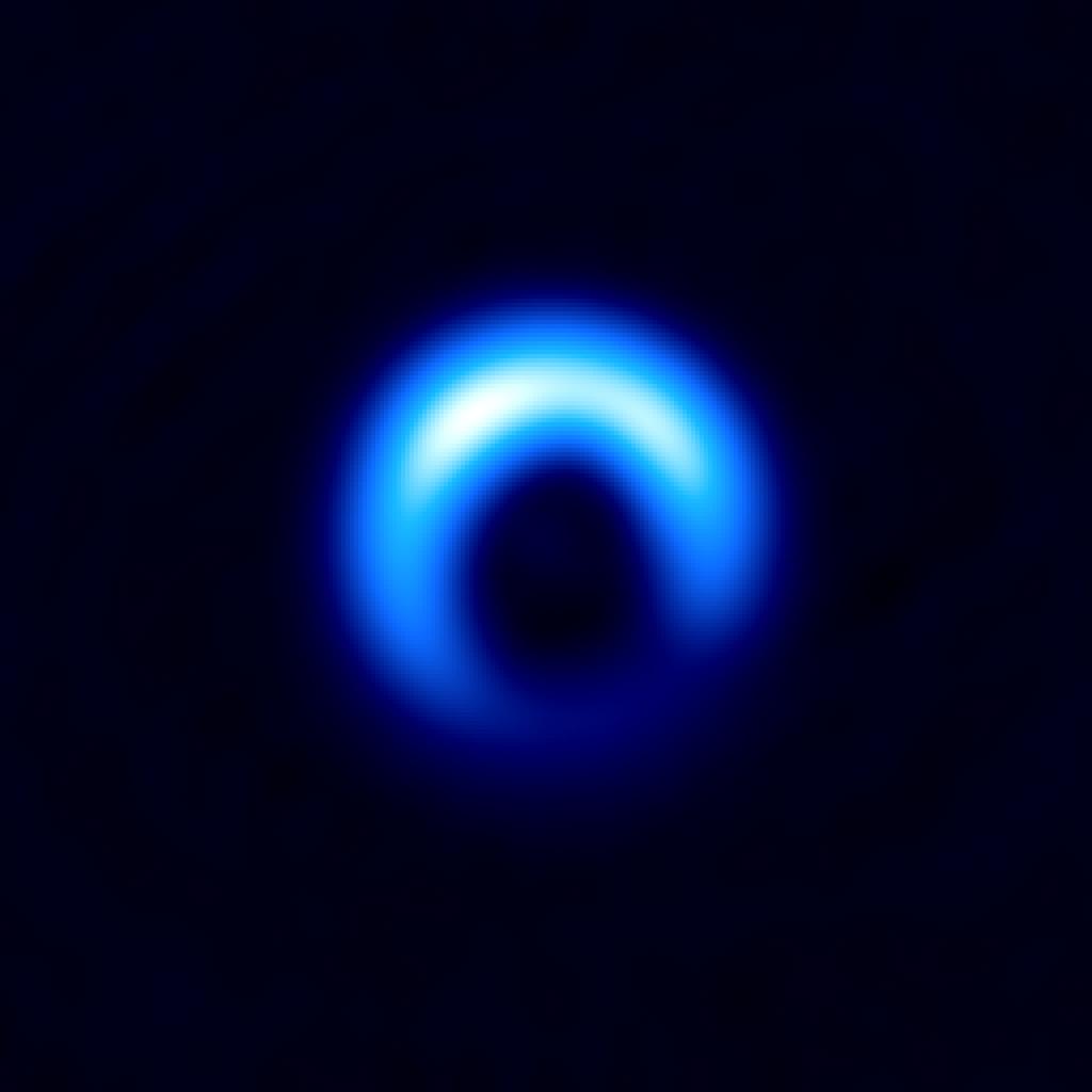 Disco de polvo que rodea la joven estrella HD 142527 observado con ALMA. Créditos: ALMA (ESO/NAOJ/NRAO), Kataoka et al.
