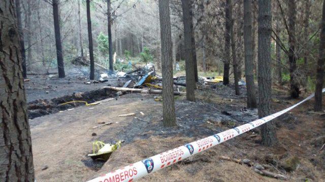 Piloto falleció tras capotar en Santa Juana avión que combatía incendio forestal