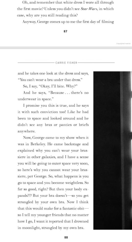 Carrie Fisher escribió su propio obituario antes de morir
