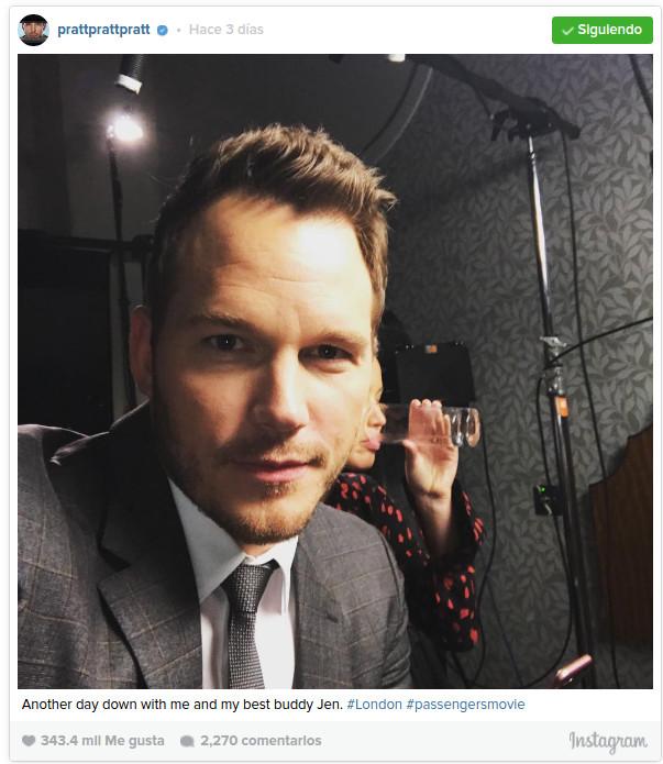 "Chris Pratt ""trollea"" épicamente a Jennifer Lawrence en Instagram y saca risas a fans"