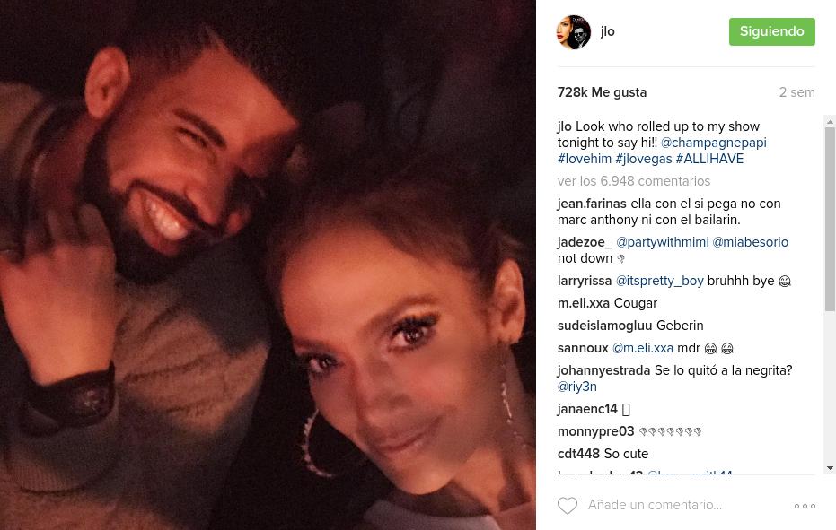 Foto de Jennifer López con Drake confirmaría su romance