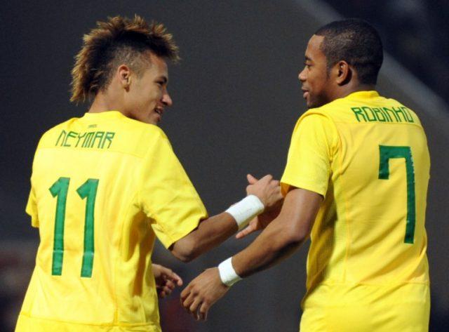 Neymar y Robinho | Agence France-Presse