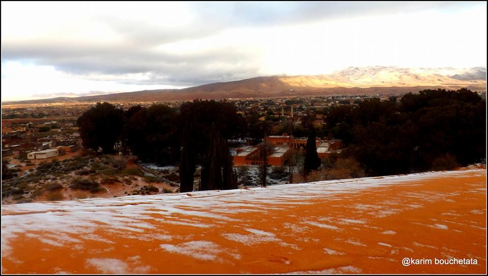 Nieva en el desierto del Sahara por segunda vez en la historia