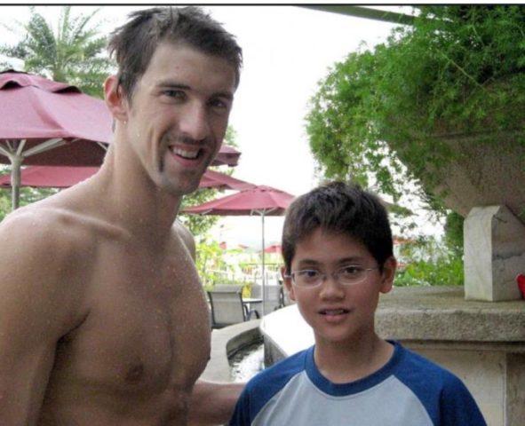Michael Phelps  y Joseph Schooling