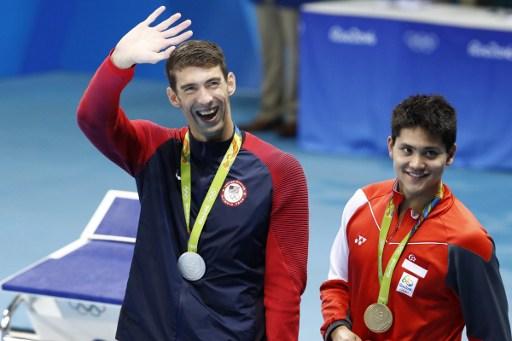 Michael Phelps  y Joseph Schooling  | Agence France-Presse