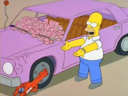 Los Simpson: revelaron qué modelo es el auto de Homero