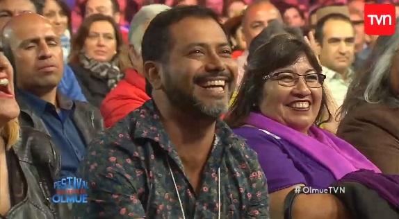Esta era la cara de Pedro Ruminot cuando su esposa Alison Mandel se reía de él en Olmué