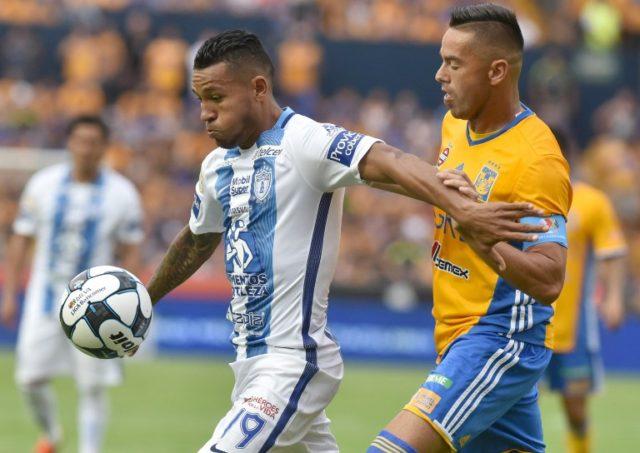 Wilson Morelo en un partido con Pachuca | Archivo / Julio Aguilar - AFP