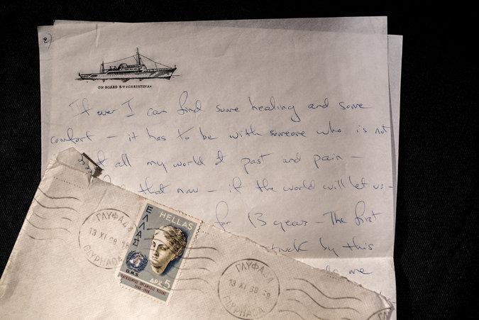Una de las cartas escritas por Jackie