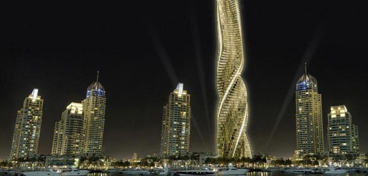 construirn el primer rascacielos giratorio en dubi se podr rotar cada piso
