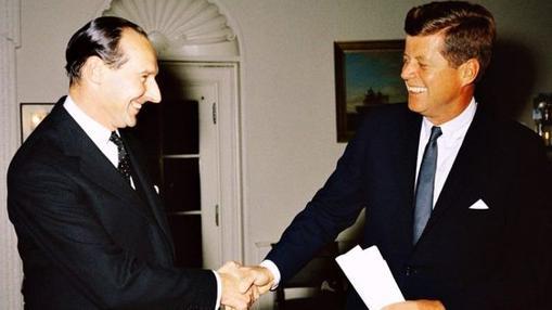 John Kennedy y David Ormsby Gore