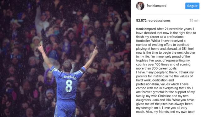 Frank Lampard | Instagram