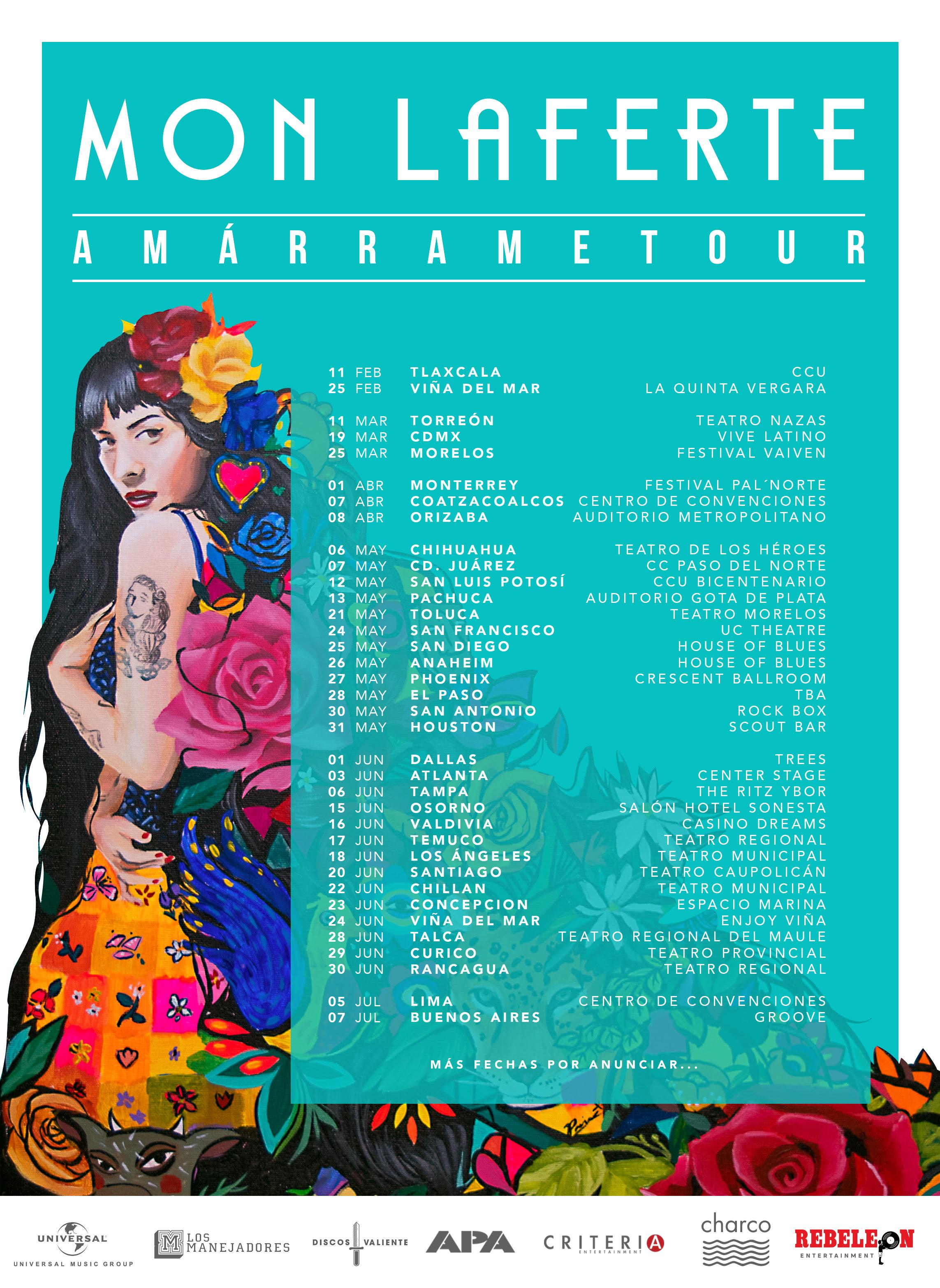 Las fechas de la gira de Mon Laferte.