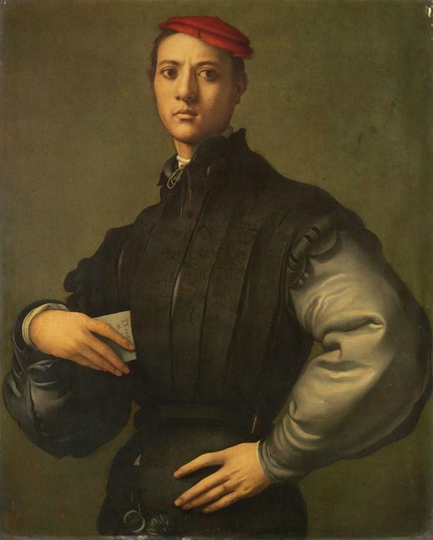 """Retrato de un joven en un casquillo rojo"" | artgalleryenc.com"