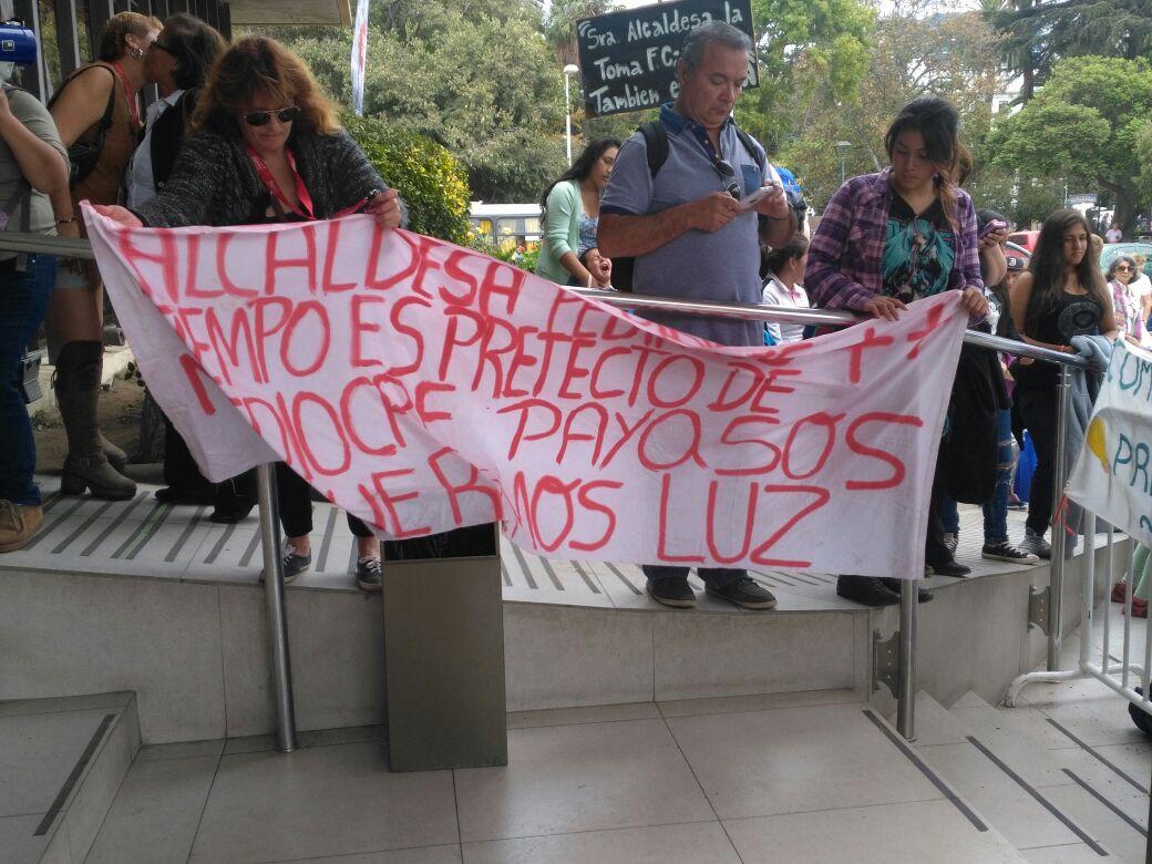 Protesta contra alcaldesa