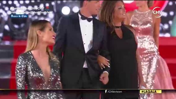 Tía Sonia opacó a Gala Caldirola en la alfombra roja del Festival de Viña