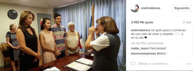 Ariel Mateluna mostró el momento de su matrimonio por Instagram - Imagen 2