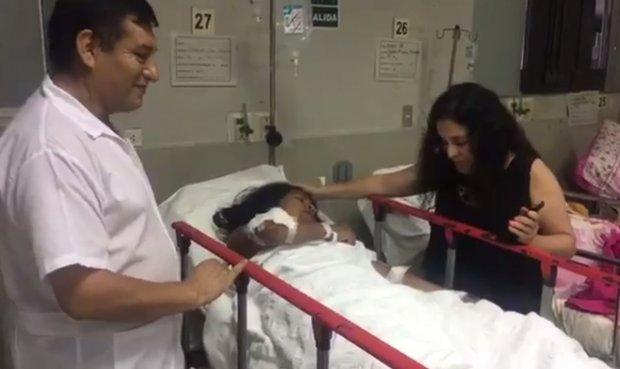 Evangelina Chamorro hospitalizada (La República)