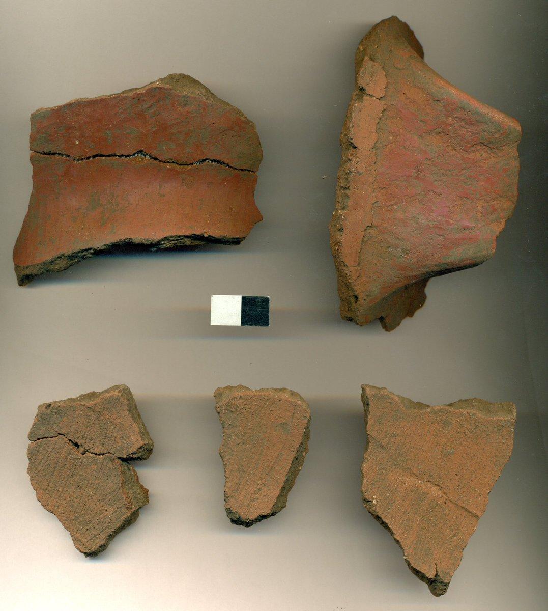 """Algunas de las cerámicas encontradas en """"Mapocho Incaico""""."""