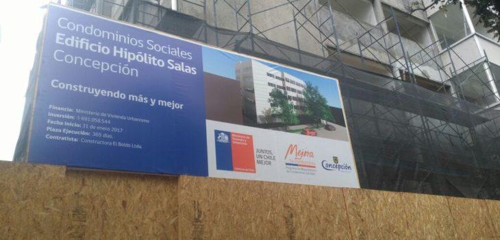 Tras 7 a os de abandono avanzan obras en edificio hip lito for Sala 7 concepcion